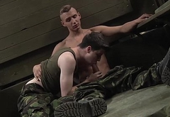 Hot army twinks with experience blow dick and fuck hard