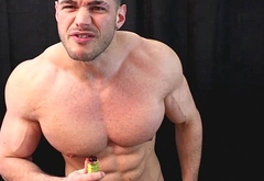 Instructional poppers alpha muscle god wank and cum