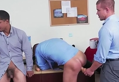 Bad employee sucks and fucks to keep his job