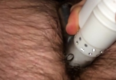 Hairy fat norwegian toys his virgin ass