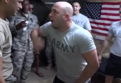 Amateur military party goes gay fuckfest