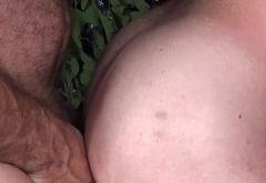 Tattooed mature bear barebacked after bj
