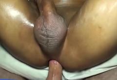 Asian skinny gay blindfolded for hardcore anal fucking