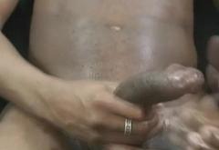 Extreme Handjob by Hunky Ebony Gay