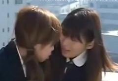 Asian Girl first gay kiss