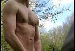 Fit guy strips outdoor and get caught