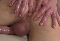 Twinks ass and cock massaged closeup