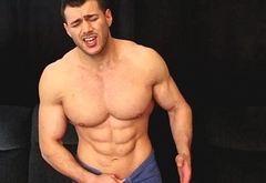 cocky muscle guy makes neighbour cum edge