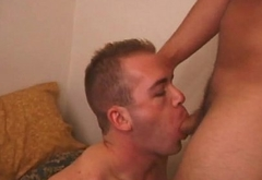 Amateur punk sucking dick before jerking