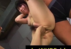 Humiliated Asian babe getting fucked the two gays