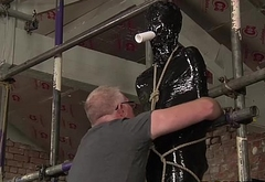 Jacob is the latest slender twink to be wrapped in plastic