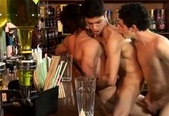 Teen Boys Hookup Threesome Sex At A Bar