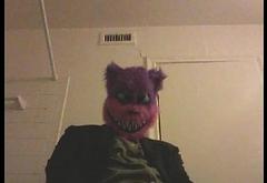 Cat guy in a fancy suit jerking it good