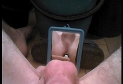 Anal masturbation with a pen and hands-free orgasm