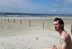 Danish Nude Young Guy (Beach In Denmark) - 1Outdoor/2Public/3Masturbation