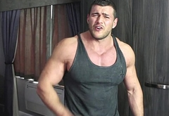 Muscle Hunk Schools Bully