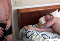 Chubby bear Aiden Kyle anallypounded after bj