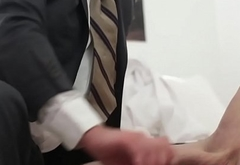 Mormon elder cums tugging