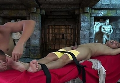 Asian Boy Chi Tied and Tickled