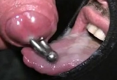 Two thick pierced cockheads for lucky masked dude