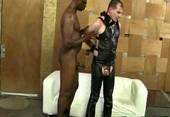 Muscular Gay White Dude Loves To Get Fucked By Black Guys 10