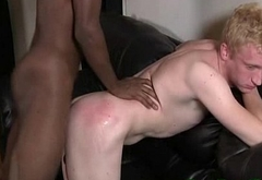 Muscular Gay White Dude Loves To Get Fucked By Black Guys 12