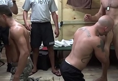 Military muscle men steamy assfucking orgy