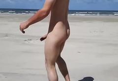 Danish Naked Young Guy On The Beach In Denmark &amp_ 1Outdoor/2Public/3Masturbation