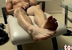 Mike is enjoying the performance as he releases his feet