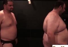 Jockstrap bear analfucking in superchub orgy