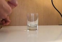 Cum in a glass
