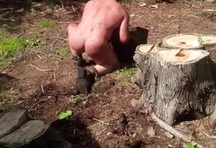 slave Forced to Clear Rocks