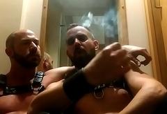 Very hot smoking gay couple