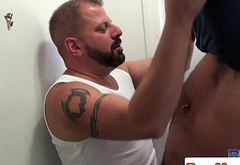Heavy bear Cooper Hill and Marc Angelo fuck