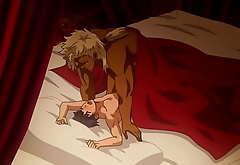 The Titan's Bride serie yaoi  hentai    gay  full series spanish sub ( shoulder feasible furry Giantess sex  )