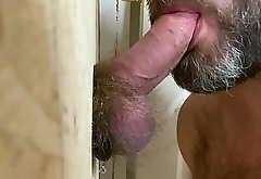 Sucking a Big Ginger Dick at a GloryHole