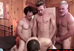 Caught and Fucked bareback by the undiminished family- GayDaddyTwink.com