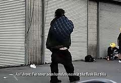 BBC In Homeless Caravan site City
