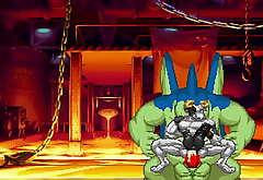 M.U.G.E.N Battle - Mo-Mo Dainimaitu VS Giran and Beamy The Gyrate