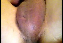 Masturbating with a hairbrush